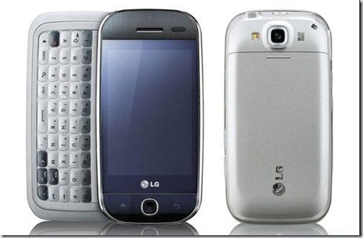 LG EVE, LG GW620, LG ETNA, LG IN TOUCH MAX,
